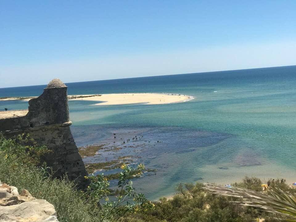 panorámica de la costa onubense.